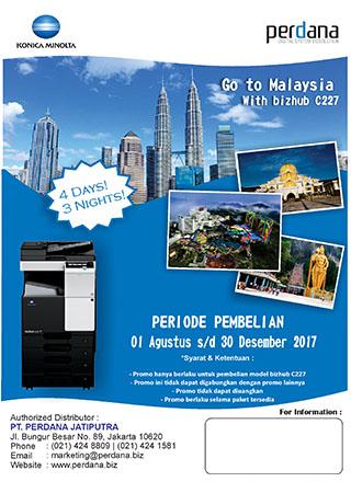 Go to Malaysia With bizhub C227