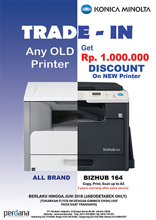 Any OLD Printer Get Rp. 1.000.000 Discount on NEW PRINTER