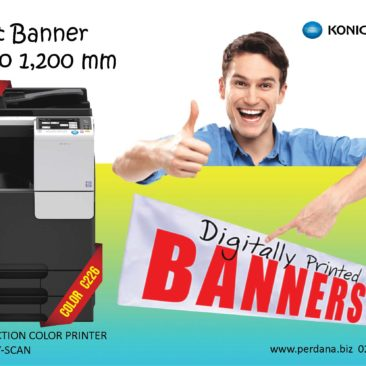 Print Banner Up to 1,200mm with Konica Minolta bizhub C226